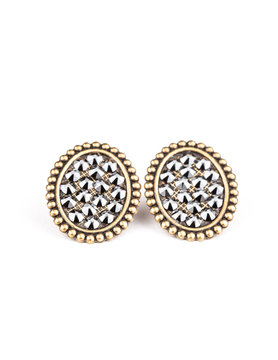 Bronze Mini Oval Studs