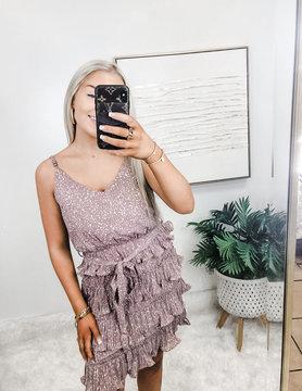 Glam Factor Sleeveless Pleated Dress