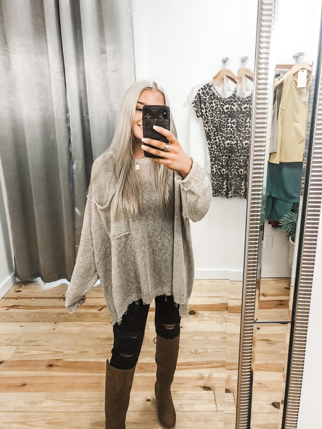 Ready, Willing, and Cable Knit Sweater - Khaki