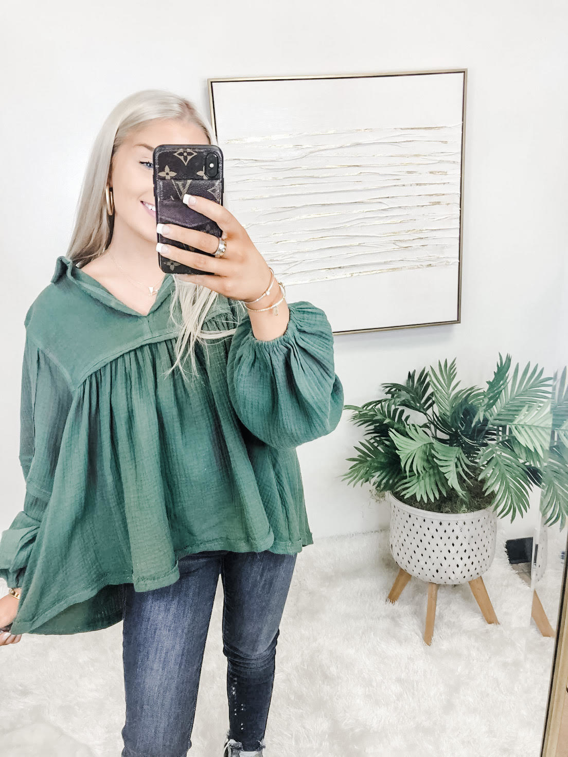 Breeze By Olive Balloon Sleeve Top