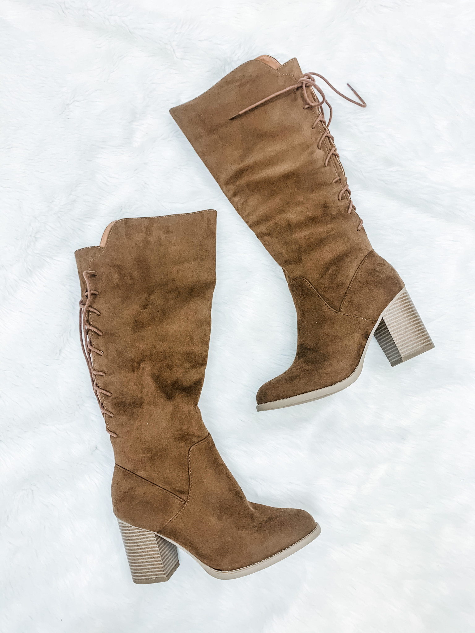 Know The Way To You Chesnut Lace Up Riding Boots