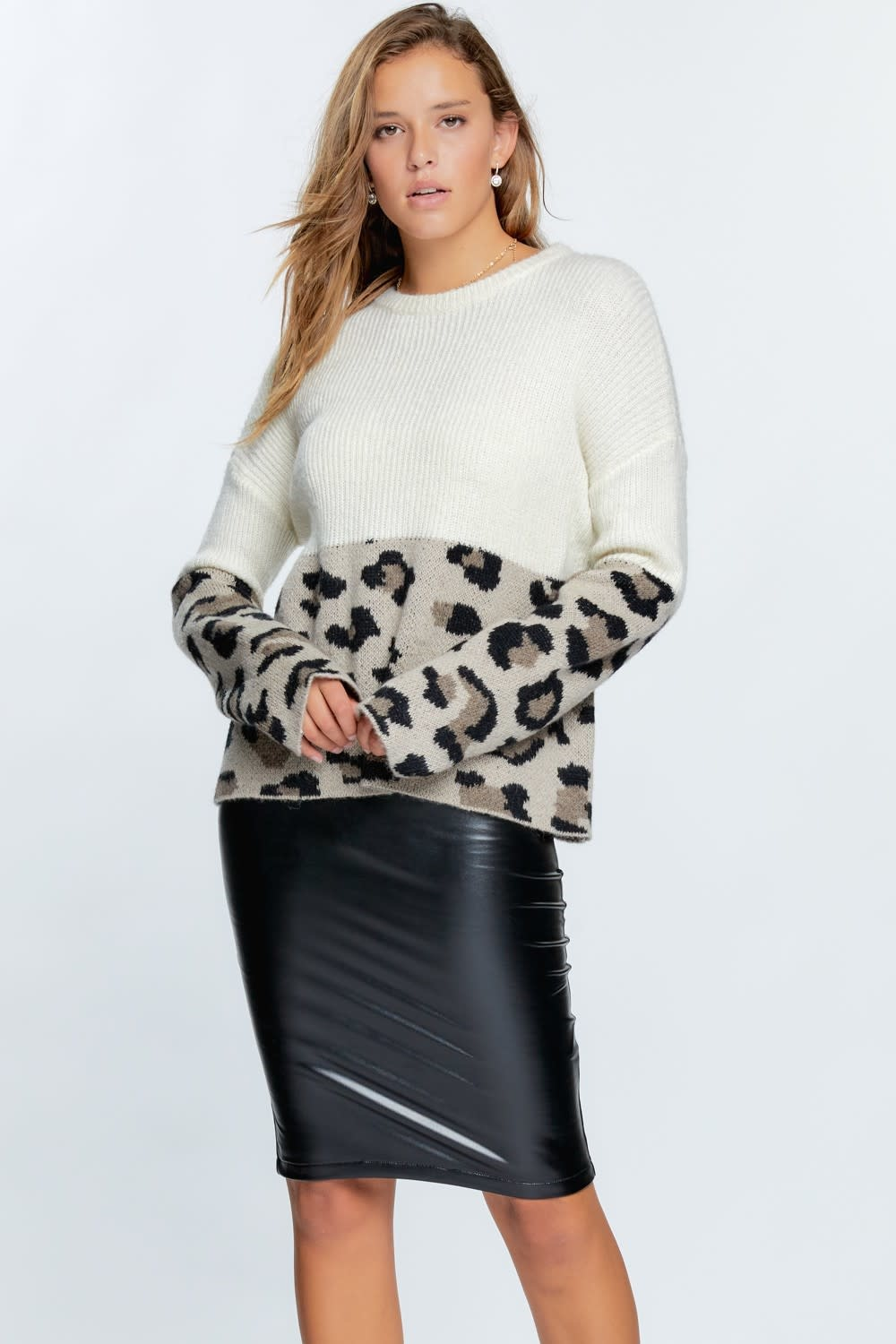 In Line With Style Color Block Sweater