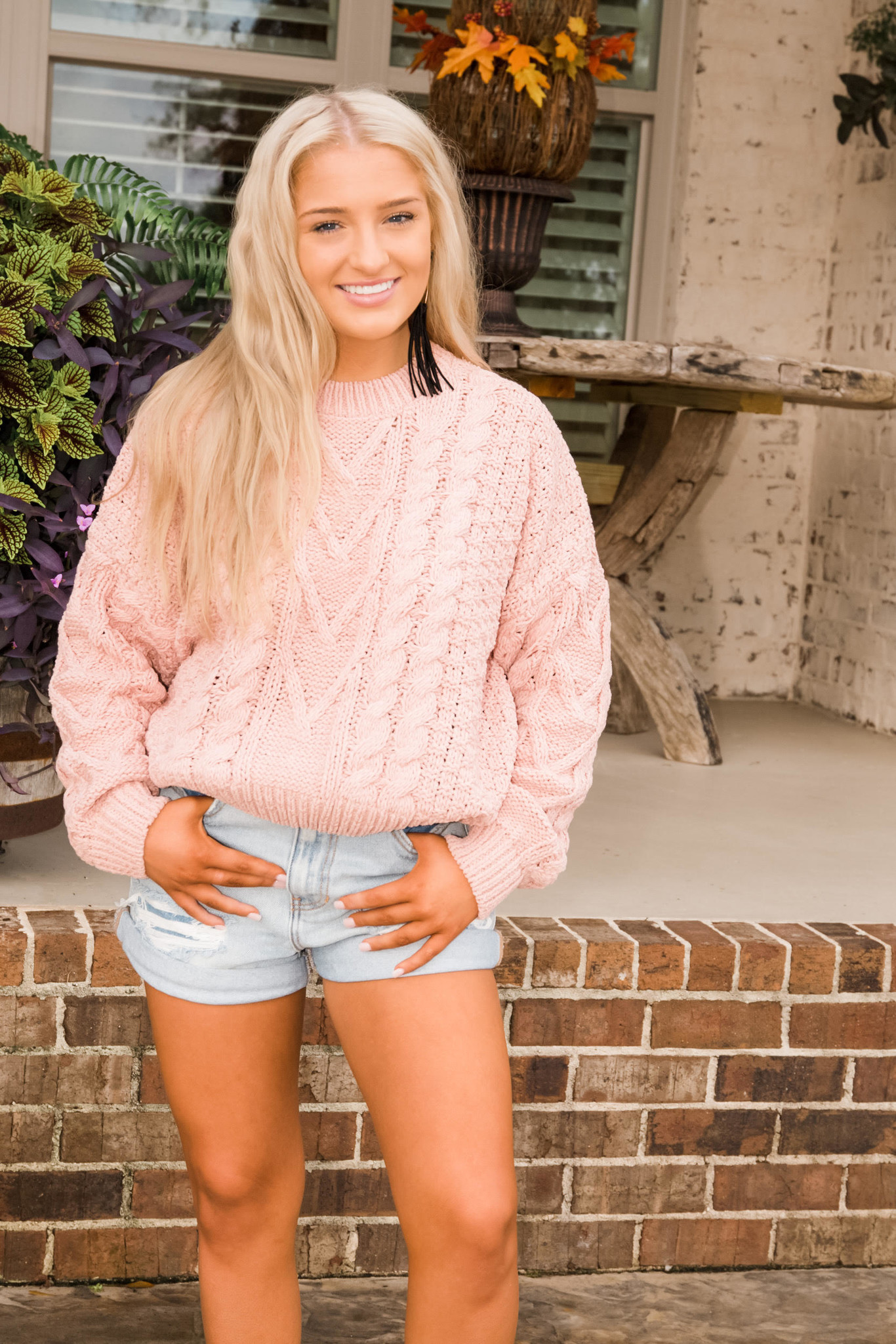 Lucky You Cable Knit Pullover