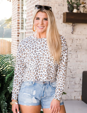 Worth The Hype Leopard Cropped Top