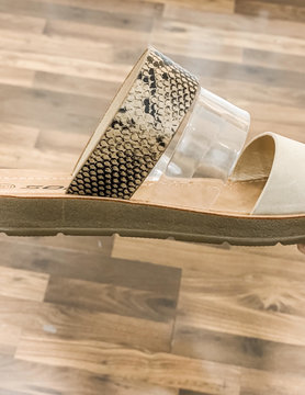 Python Slip On Sandals