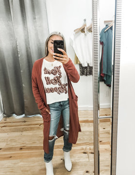 Need It All Midi Cardigan- Burgundy, Charcoal, and Mauve
