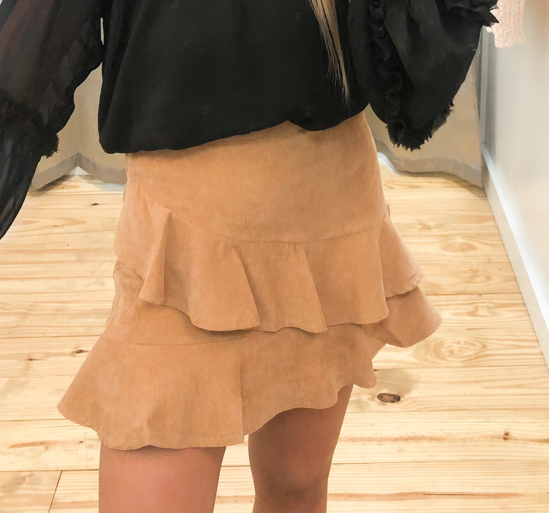 Ruffled Up Corduroy Skirt