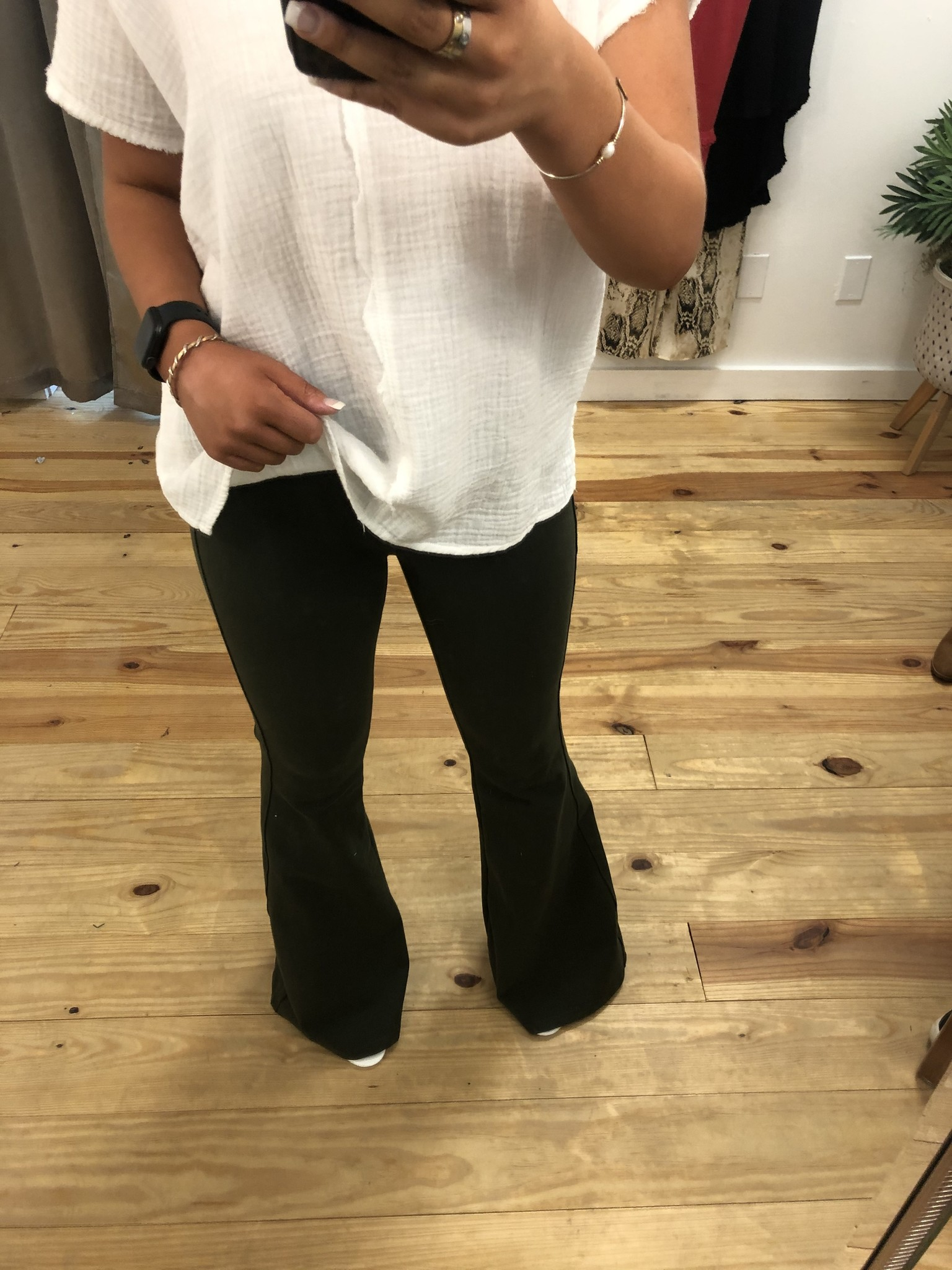 High Rise Black Wash Super Flare Jeans