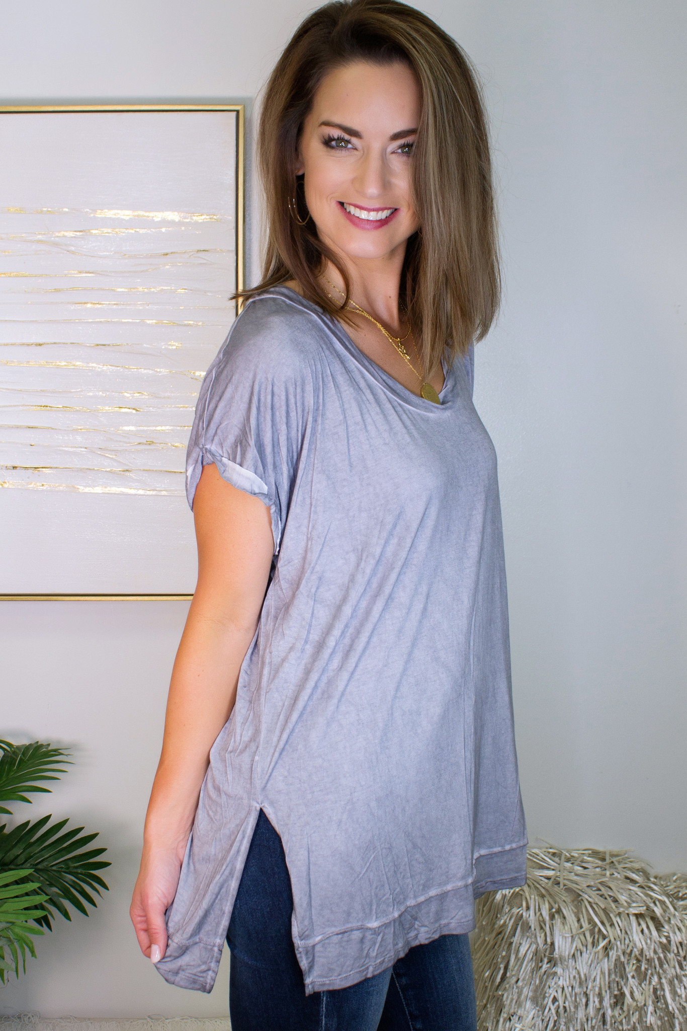 Mineral Washed Basic Top