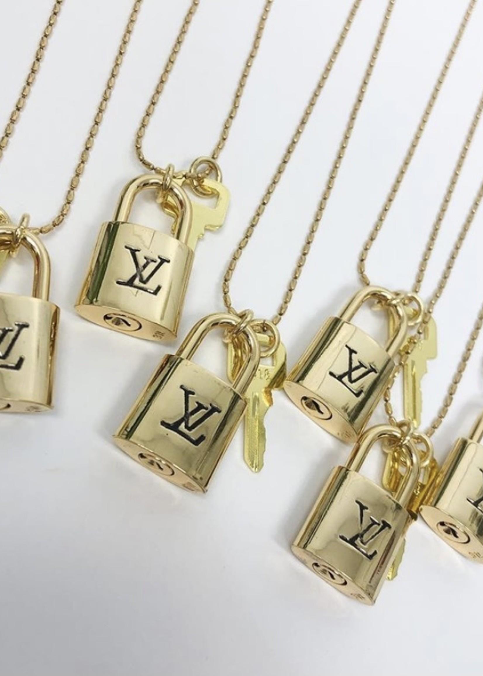 LV Lock Necklace w/ Key