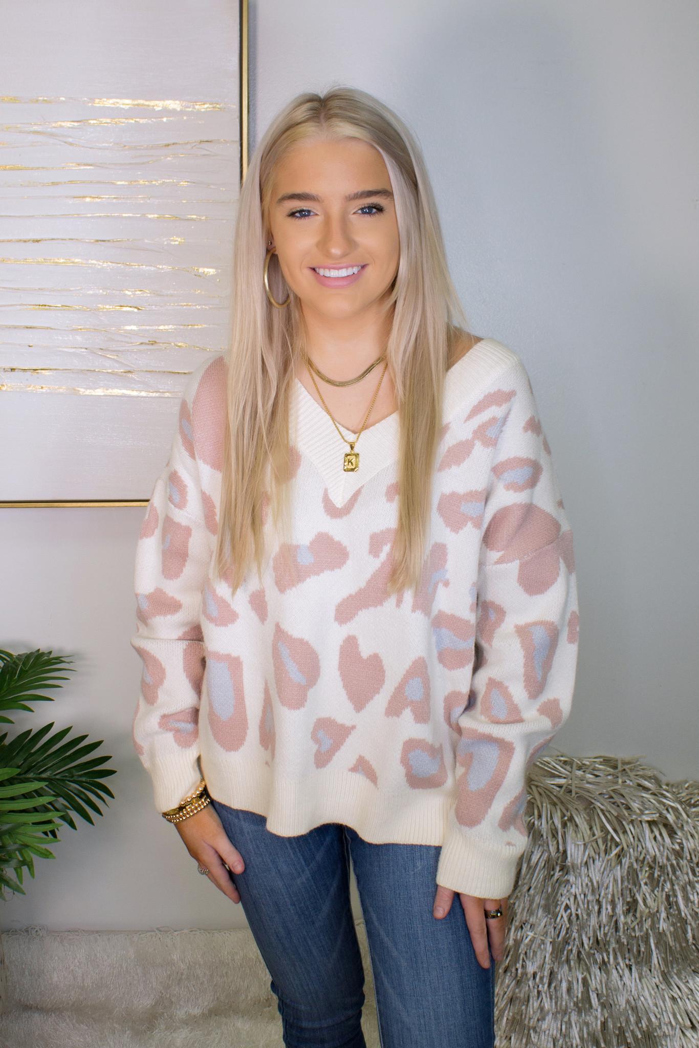 Stacy Leopard Sweater