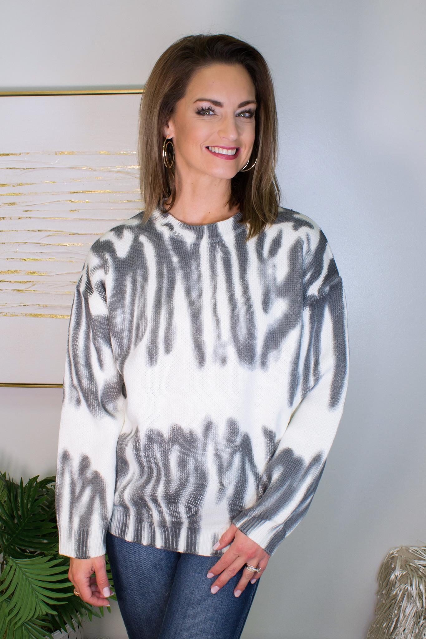 Tie Dye Effect Sweater