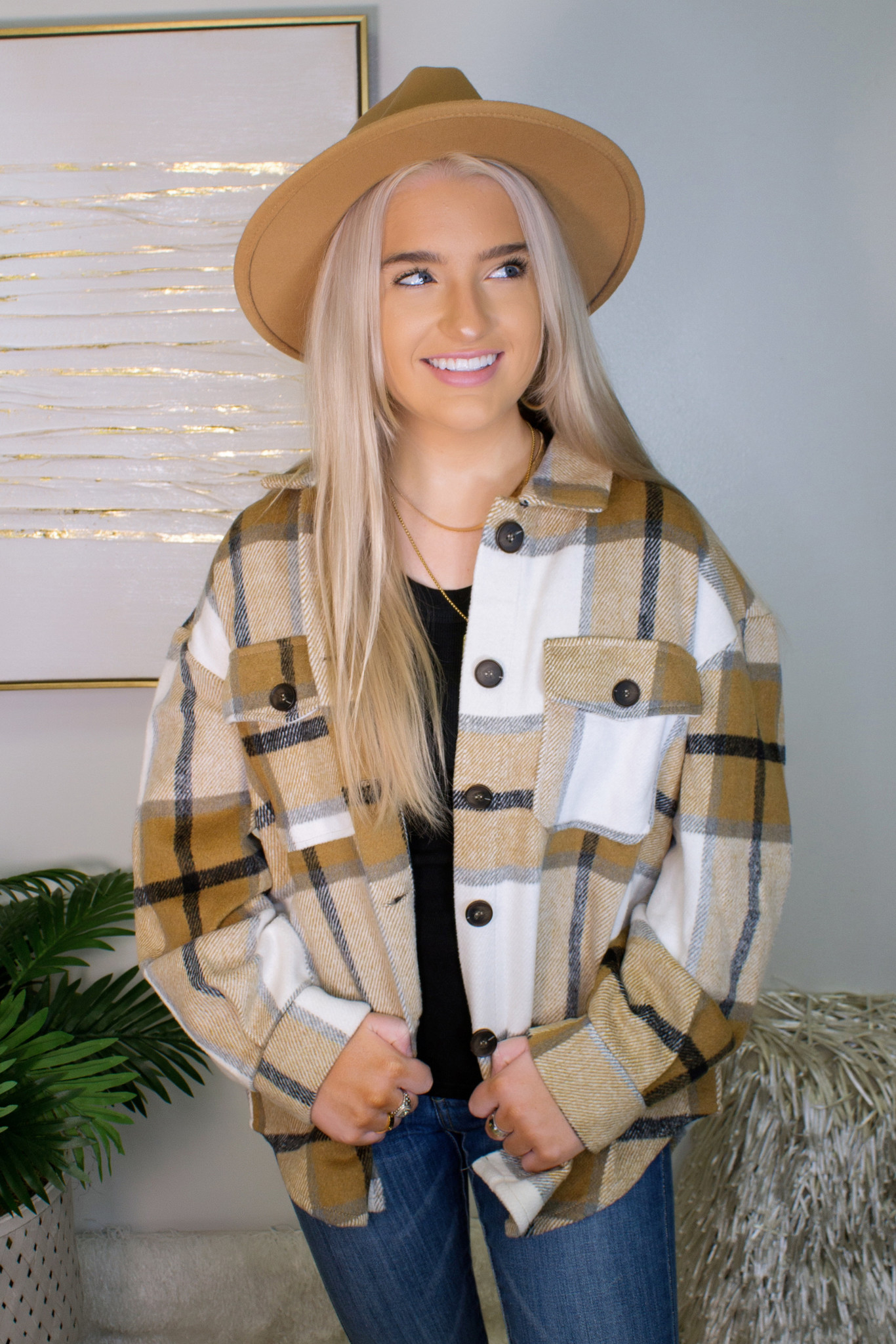 Checkered Oversized Button Down Flannel