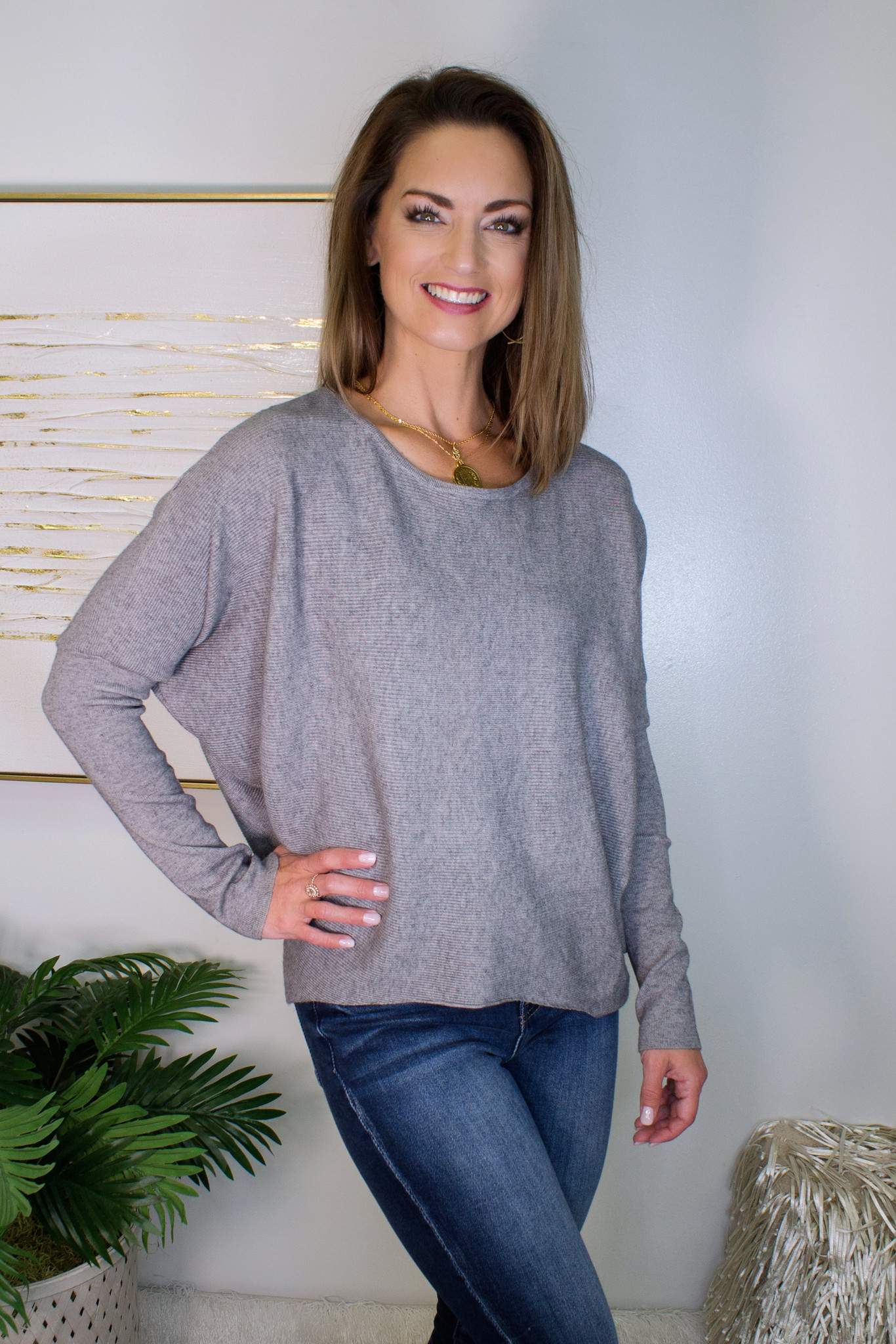 Dolman Sleeve Sweater Top