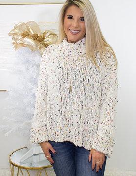 Cuffed Turtleneck LS Sweater