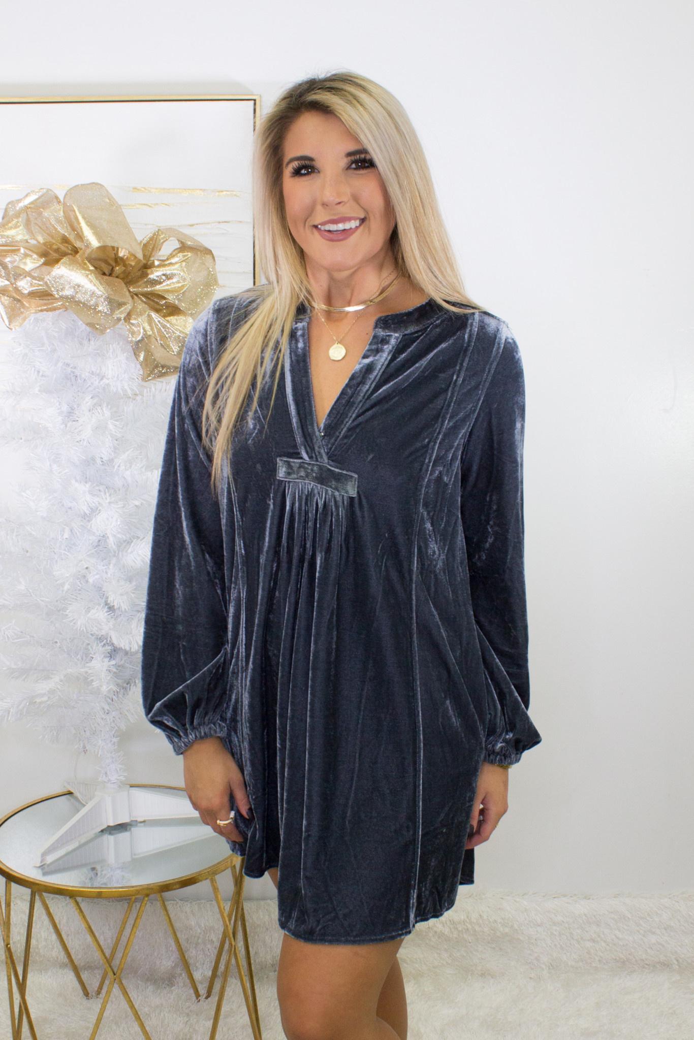 Soft Velvet Tunic Dress