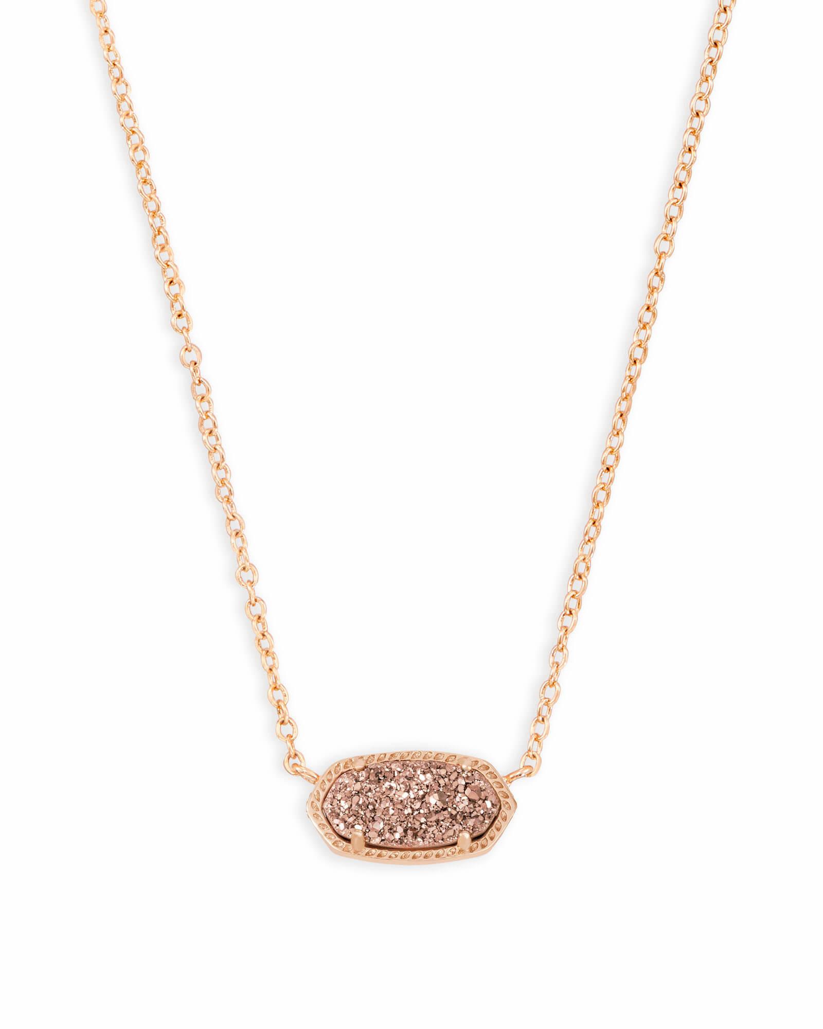 Elisa Necklace RSG Rose Gold Drusy