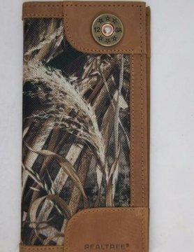 Nylon/Leather Realtree Secretary Concho Wallet