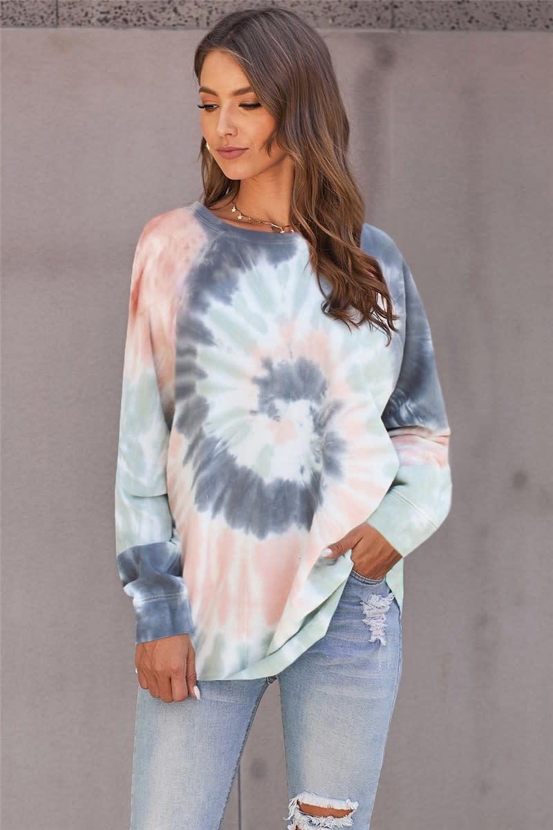 Multi Color Ombre Loose Sweatshirt
