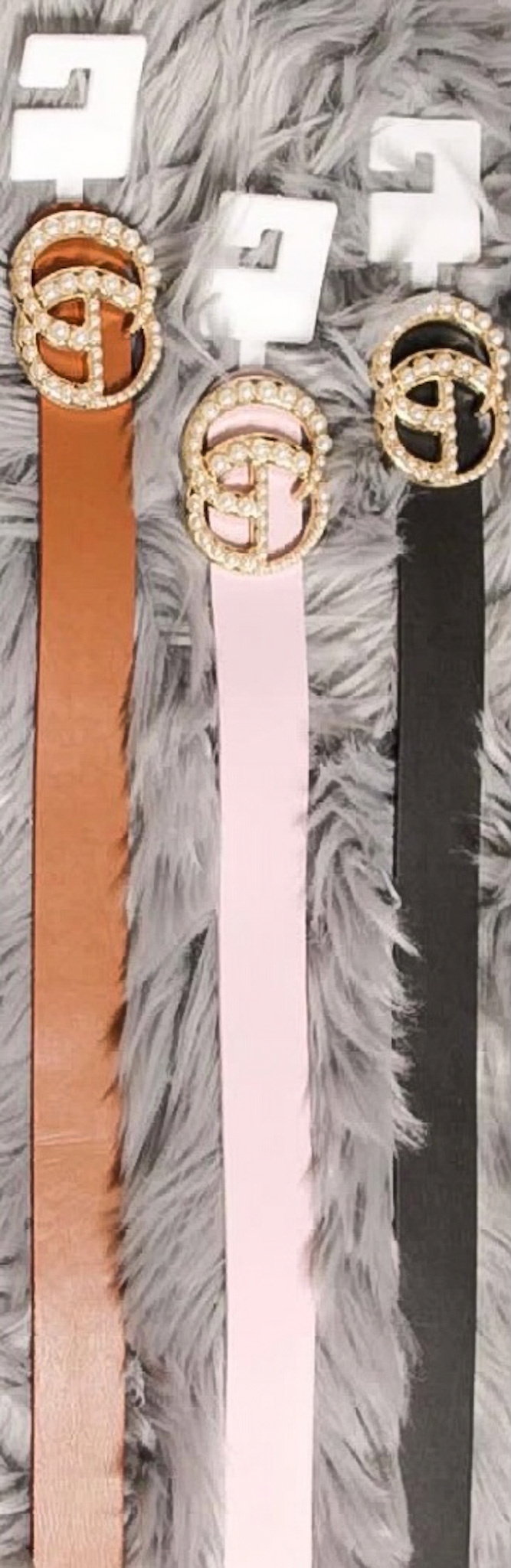 Gucci Inspired Belts Pearl