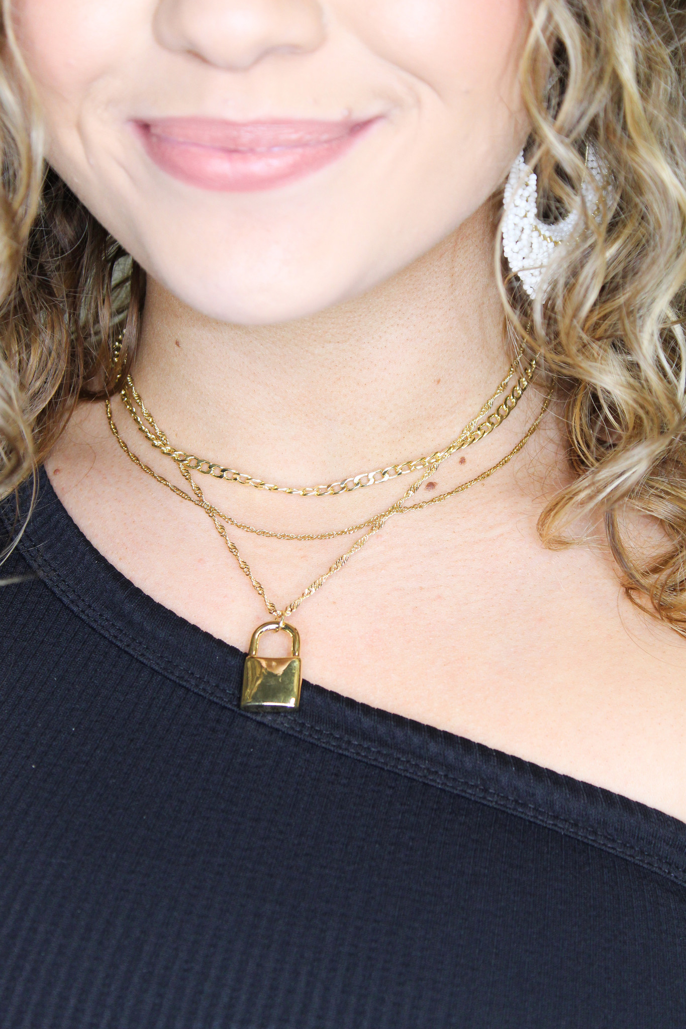 Lock & Chain Layer Necklace