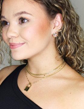 Glitter Flake Ball Earrings