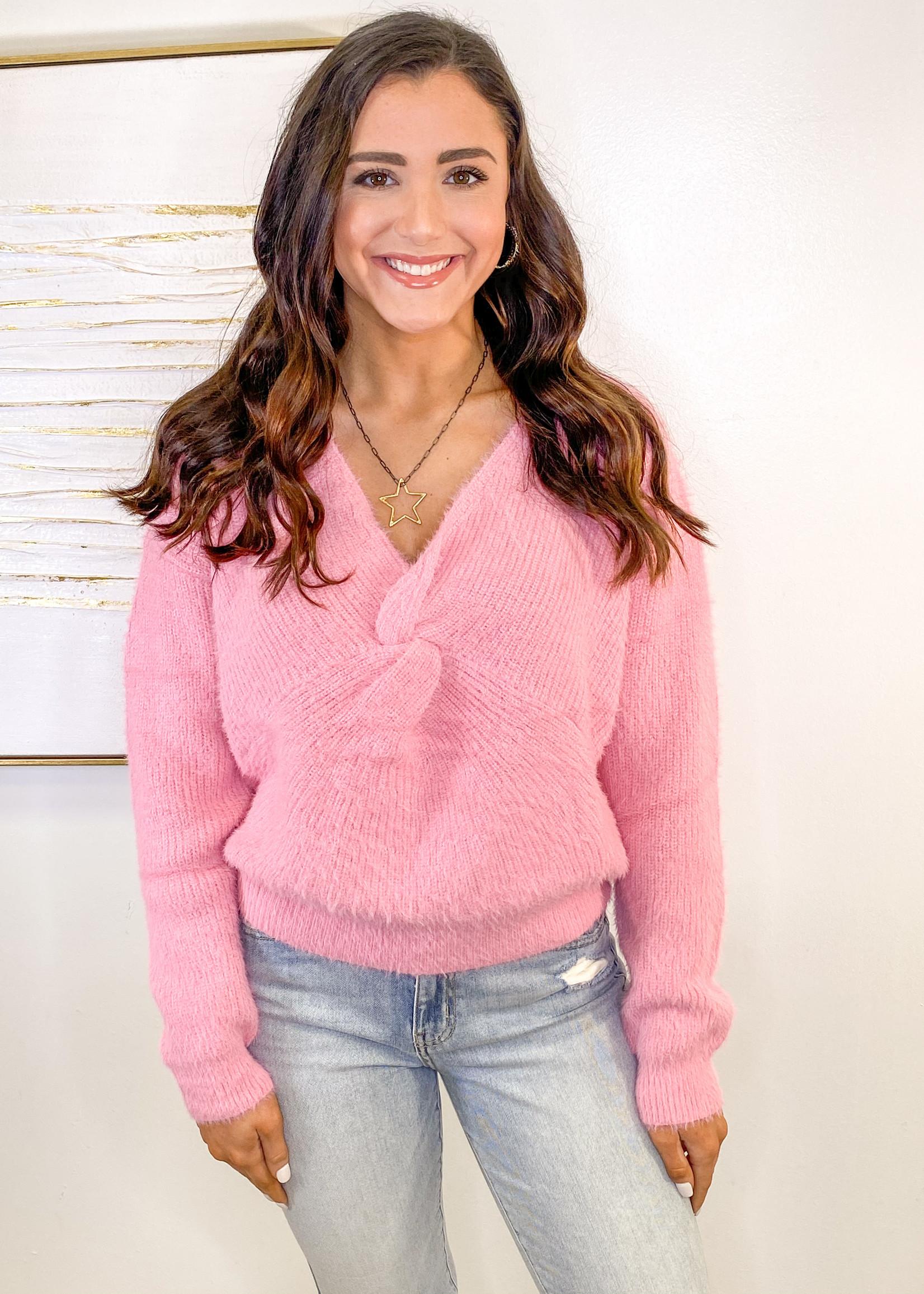 Fuzzy Knit Sweater Top