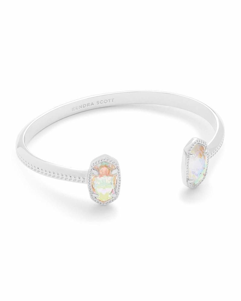 Elton Bracelet Rhod Dichroic Glass
