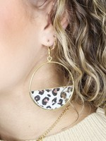 Hoop with Leopard Detail Earring