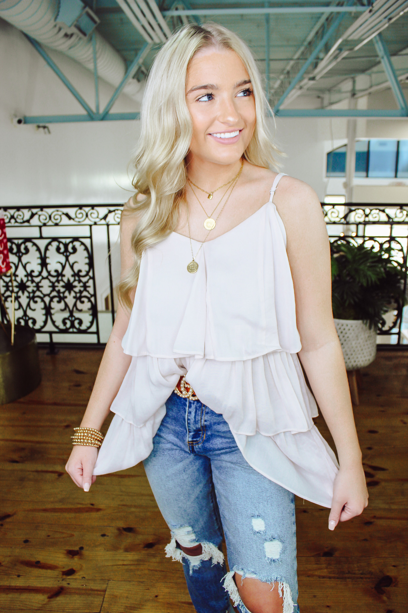Layered Woven Top
