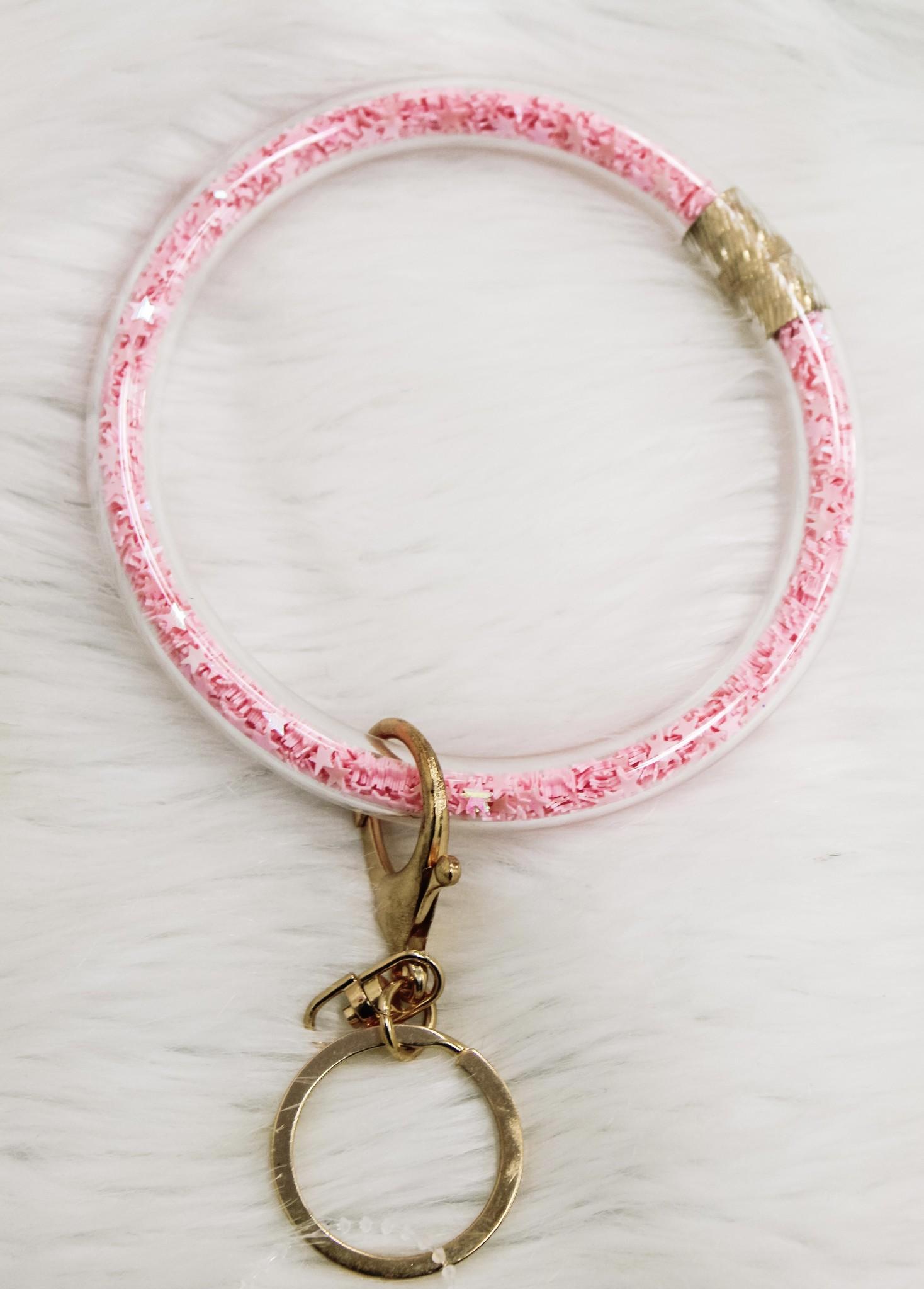 Glitter Star Silicone Key Ring