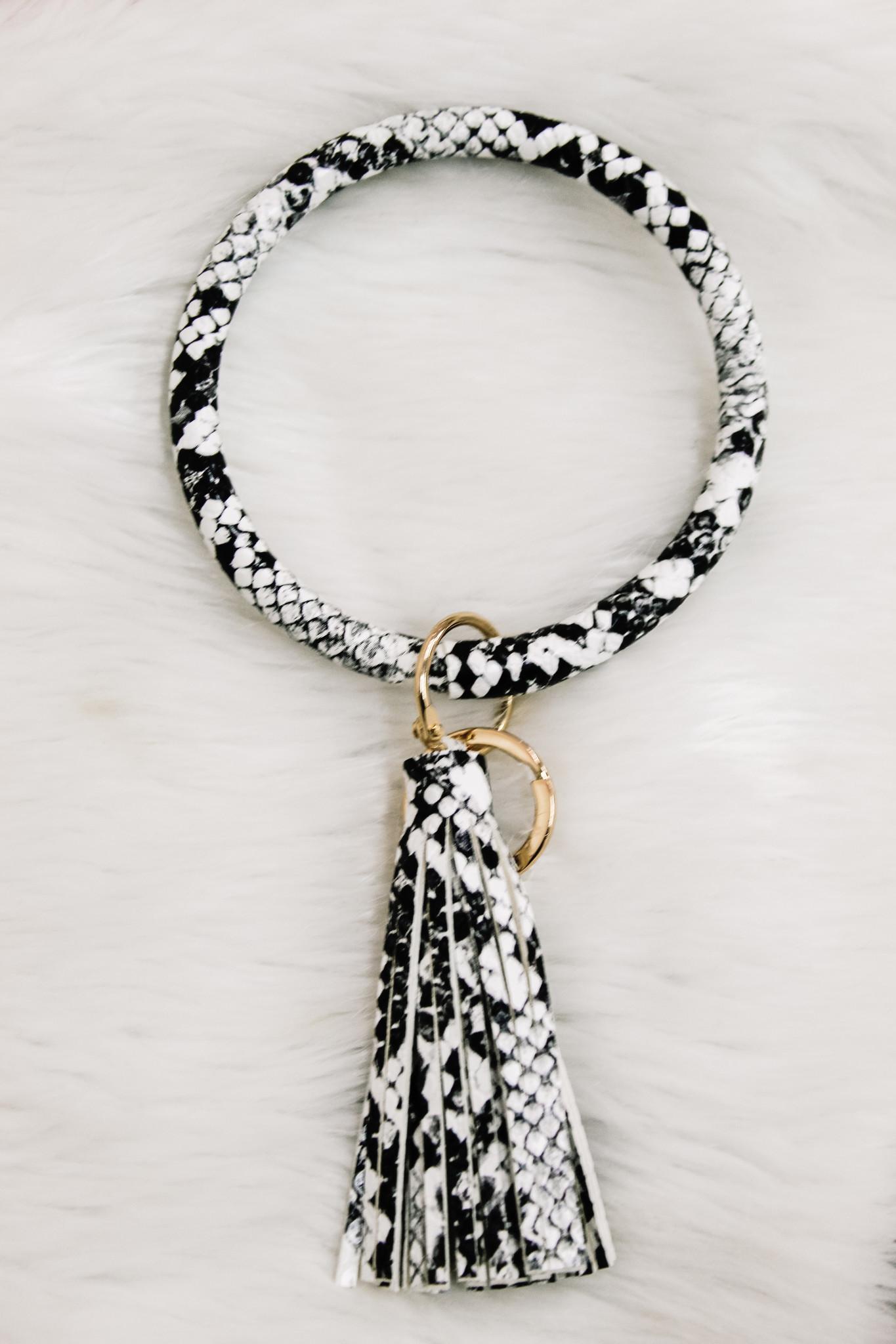 Animal Print Key Ring & Tassel