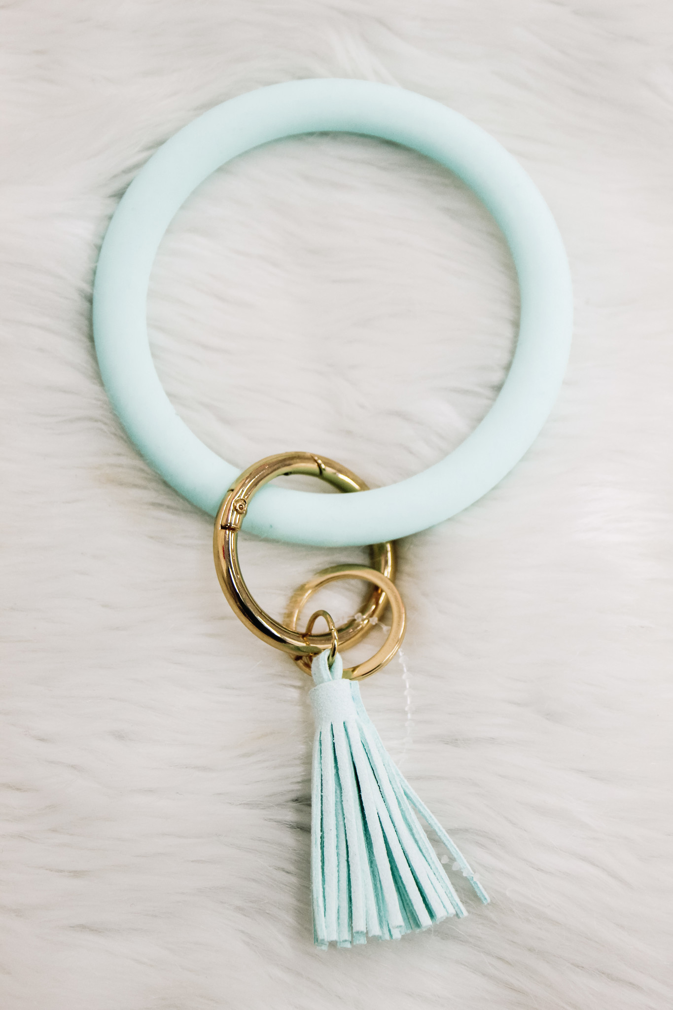 Silicone Key Ring Mint Bracelet