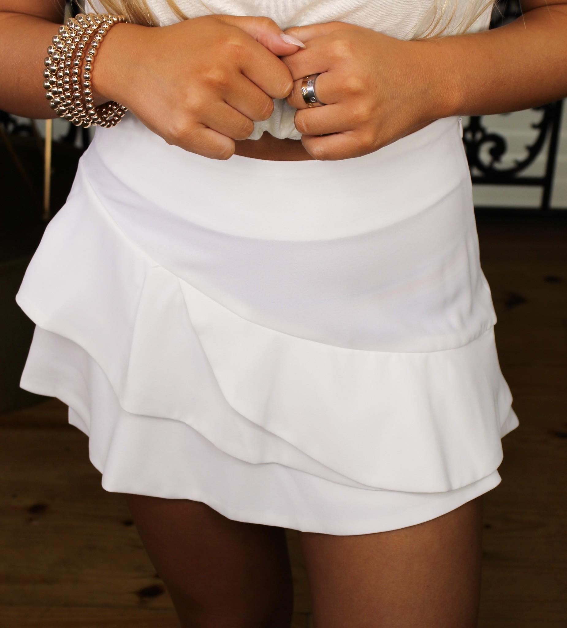 Layered Ruffle Mini Skirt