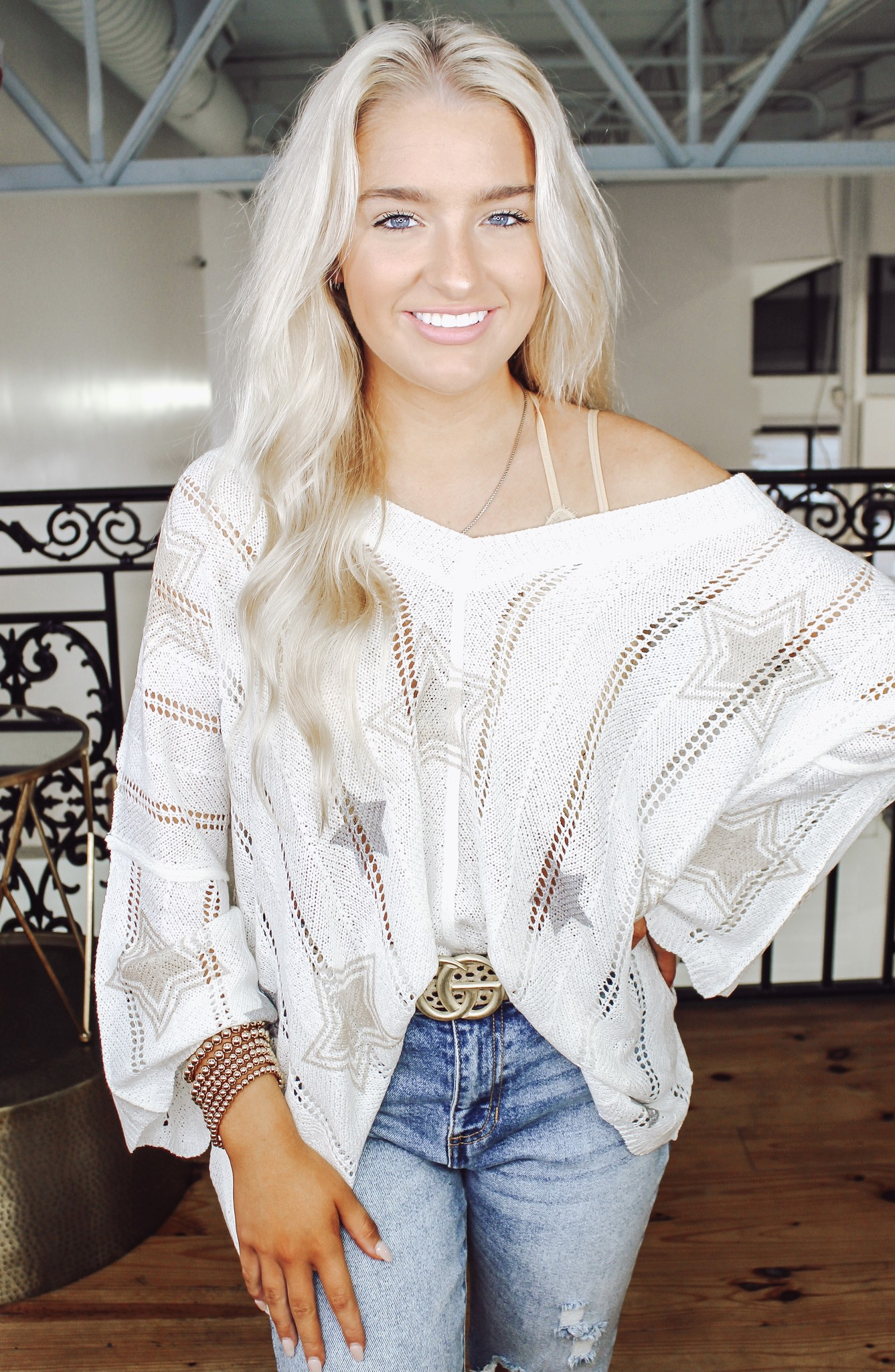 Color The Stars Sweater Top