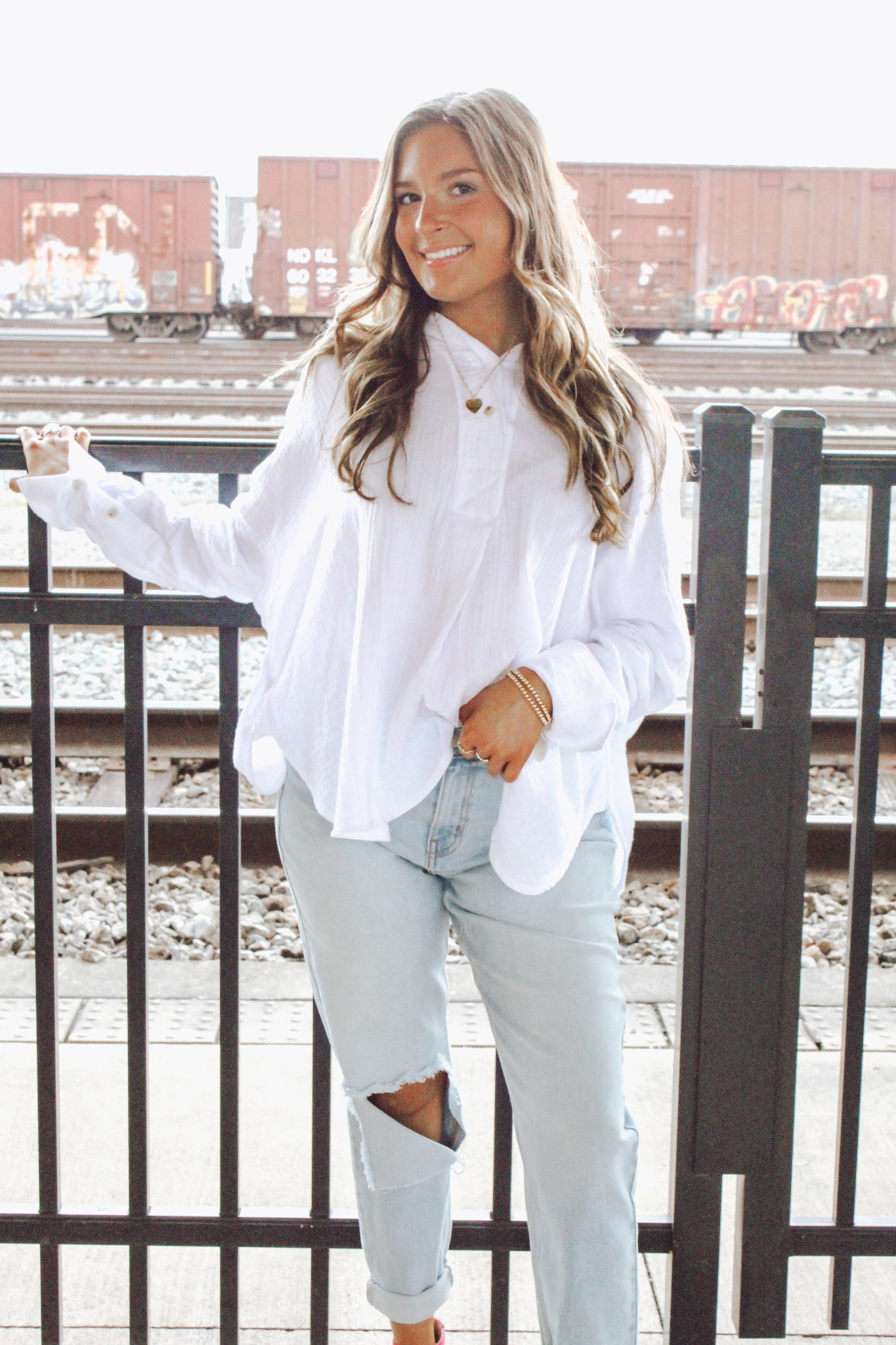 Hooded Button Up Top