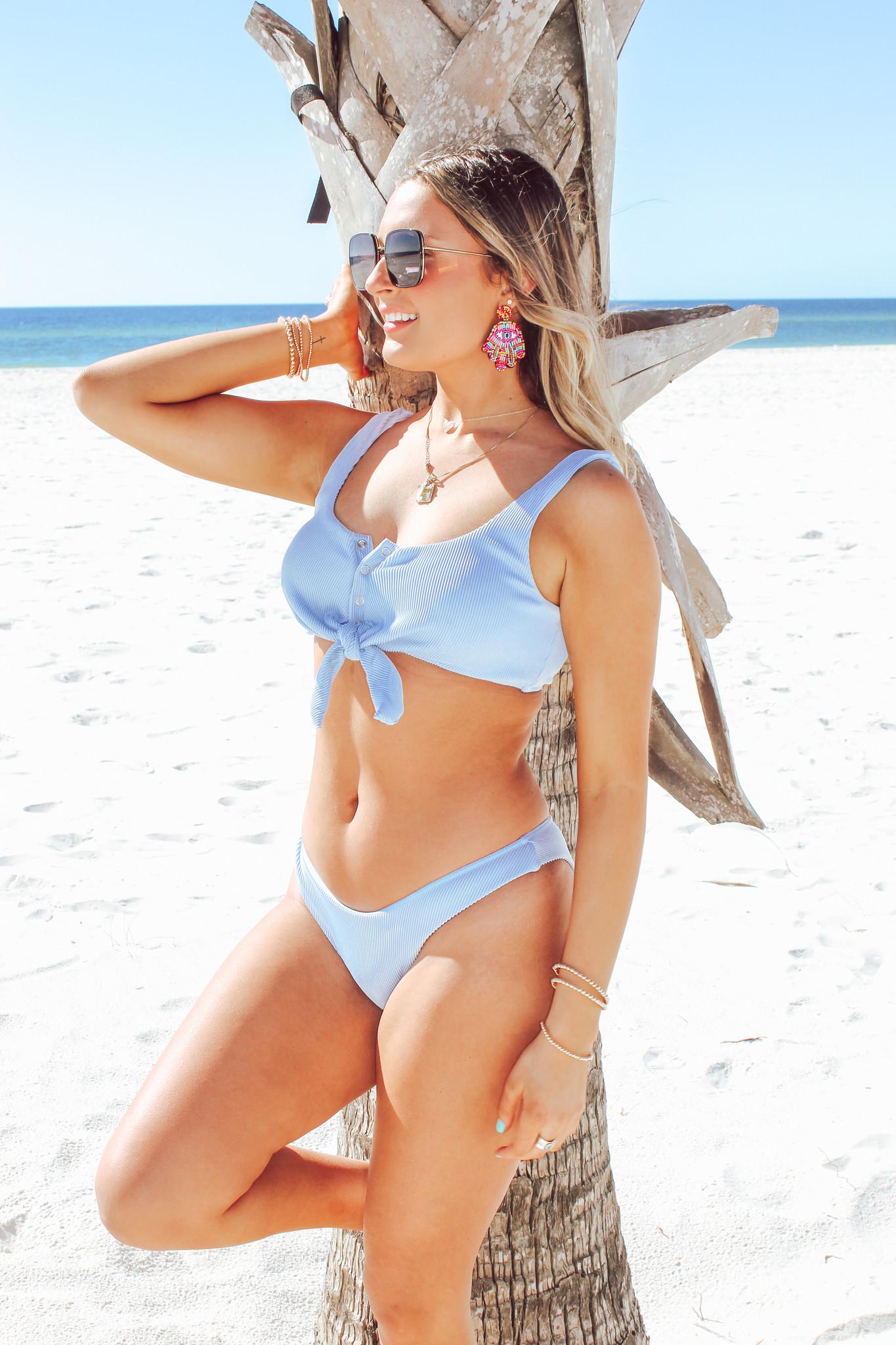 Ribbed Snap Bikini