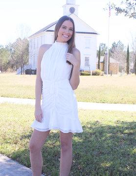 Halter Shirred Dress