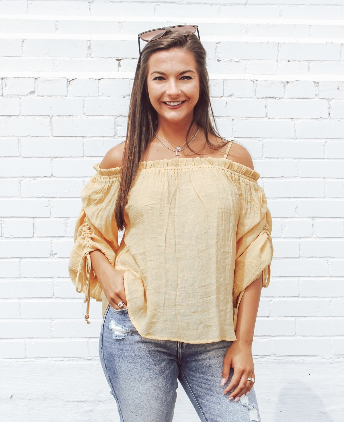 Off The Shoulder Boho Top