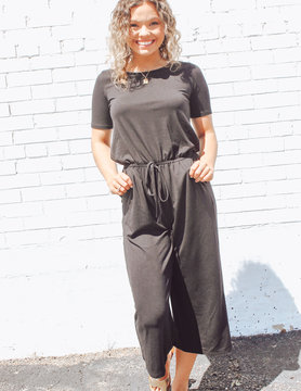 Capri Jumpsuit with Pockets
