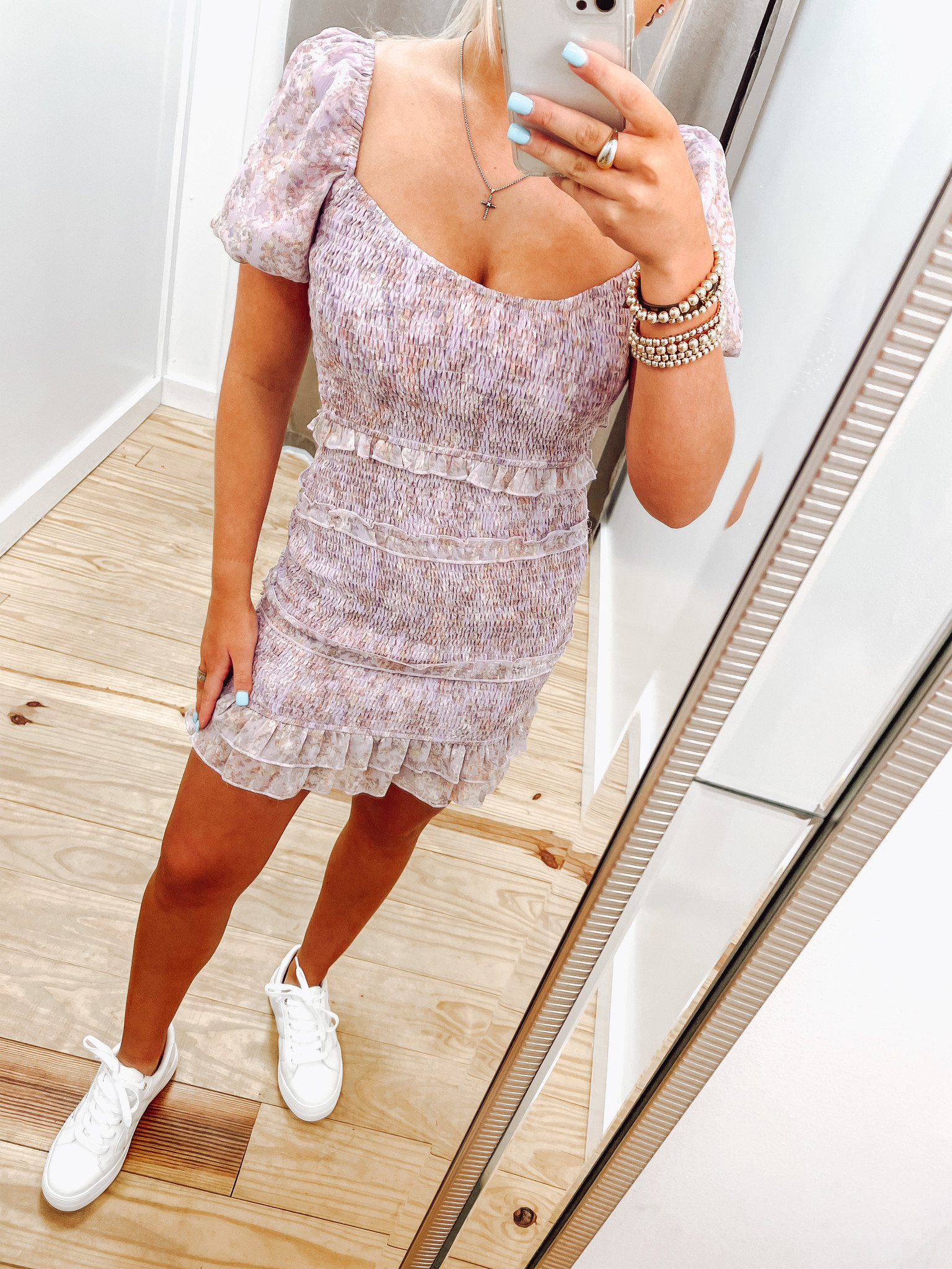 Tiered Puff Sleeve Dress