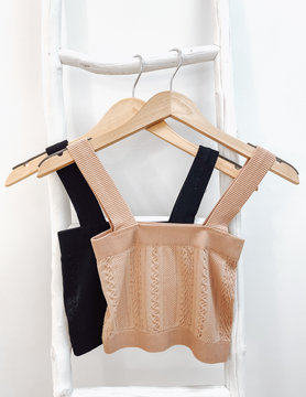 Jacquard Tube Top With Thick Straps