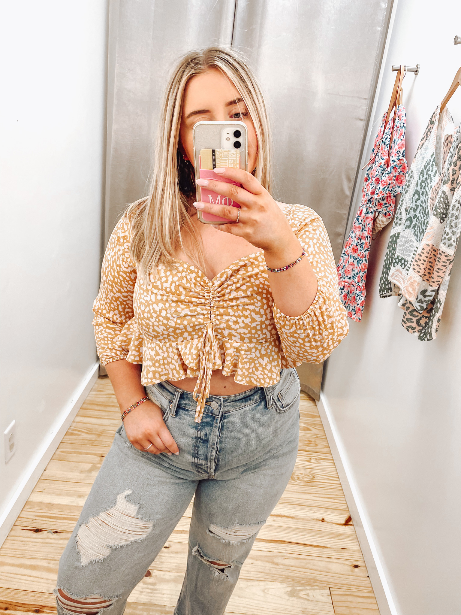 Cropped Synched Short Sleeve Top