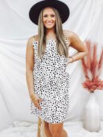 Animal Print Cowl Neck Slip Dress