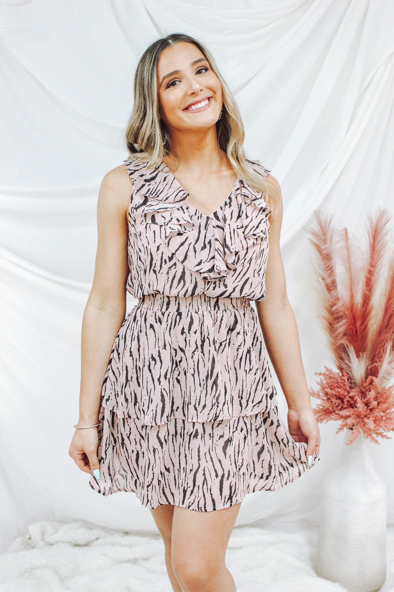 Ruffle Tiered Sleeveless Dress