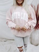 White Filled Corded Sweatshirt