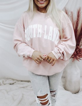 White Filled Corded Sweatshirt