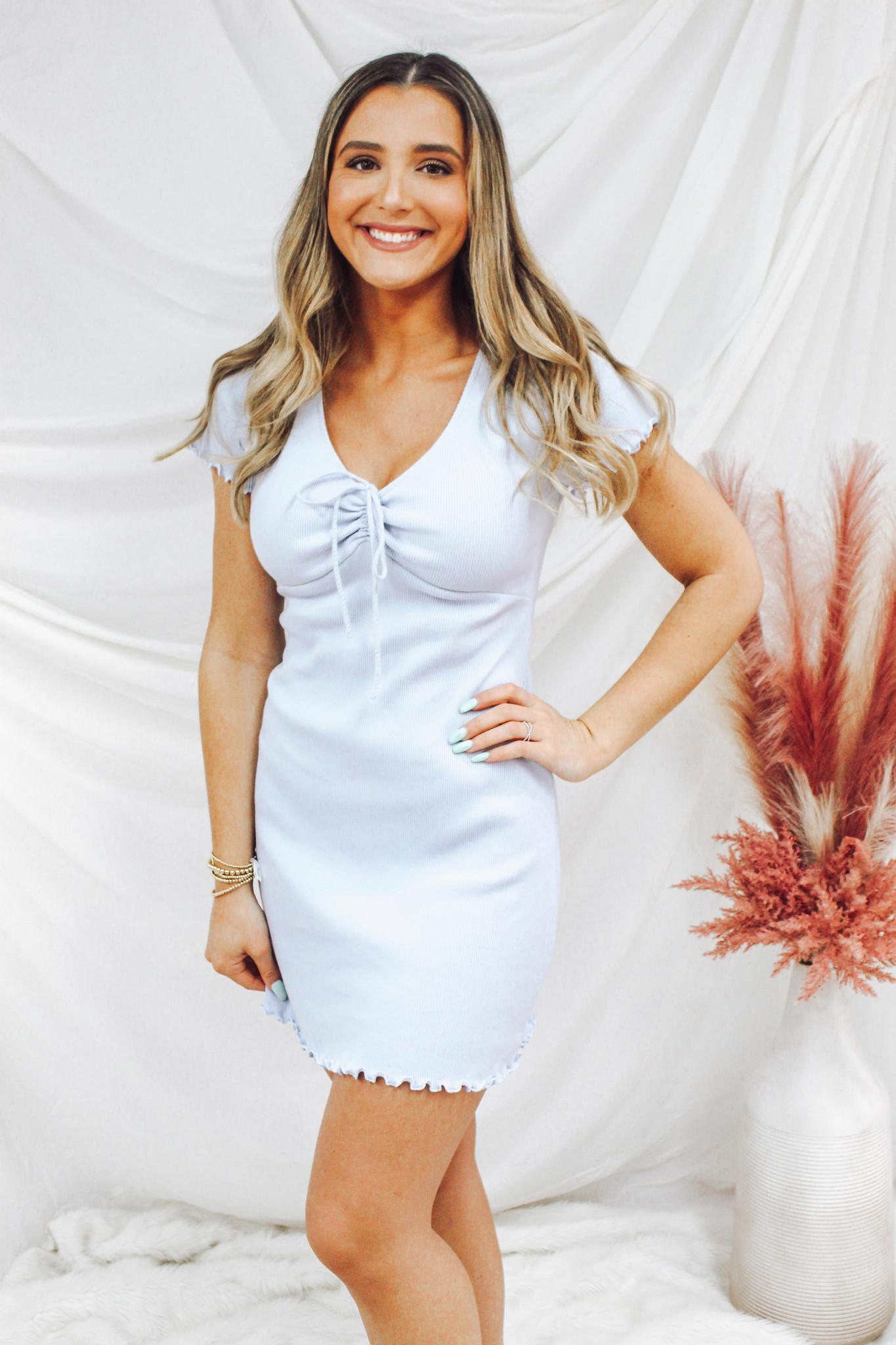 Tassel Tie V-Neck Dress