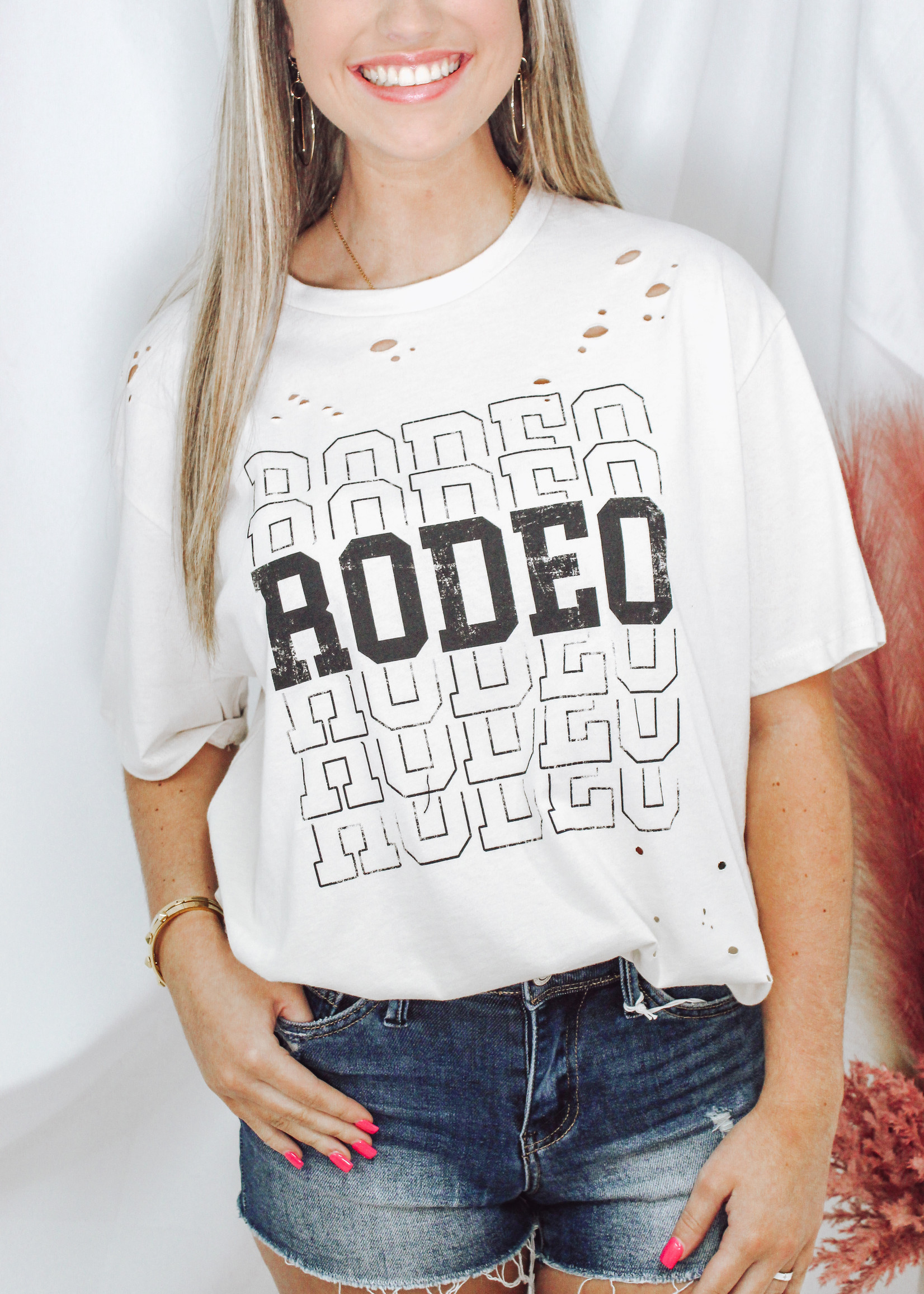 Rodeo Distressed Graphic Tee