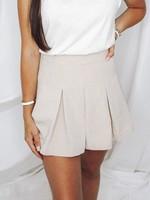 Box Pleaded Mini Skirt